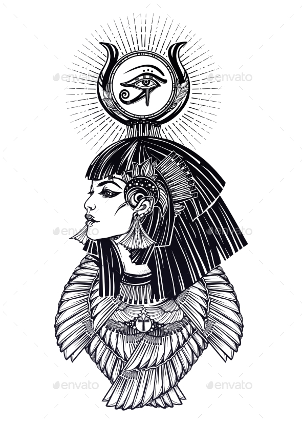 Portrait of an Egyptian Goddess - Miscellaneous Characters