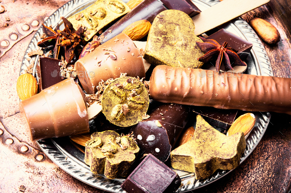 Assorted chocolate candies - Stock Photo - Images
