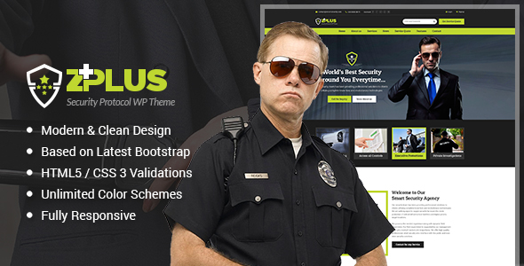 Zplus - Security Company WordPress Theme