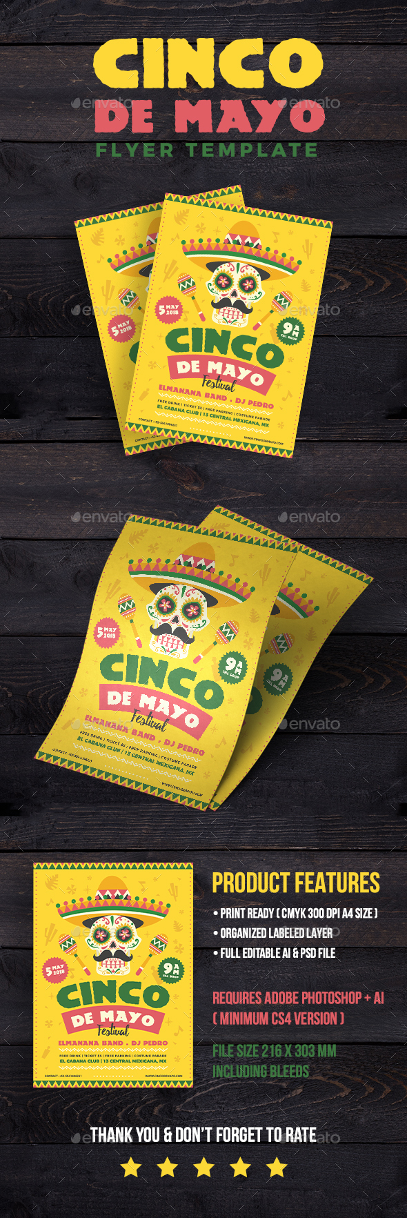Cinco de Mayo Festival Flyer - Events Flyers