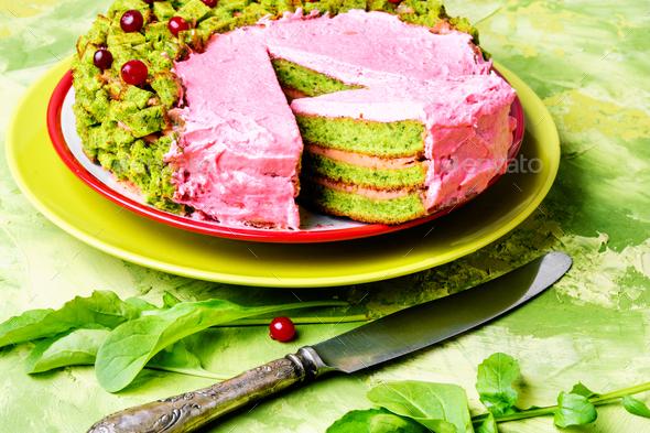 Vegan pie of herb - Stock Photo - Images