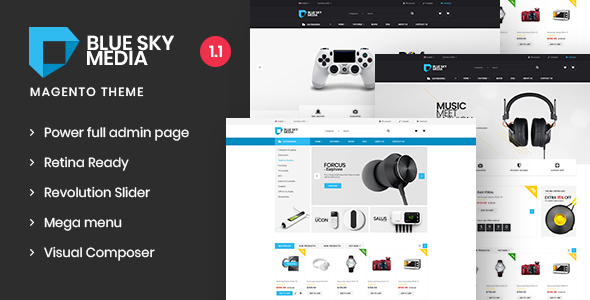 Image of Bluesky-Media  Responsive Magento 2 Theme