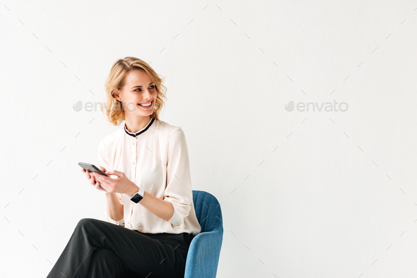Portrait of a beautiful young businesswoman - Stock Photo - Images