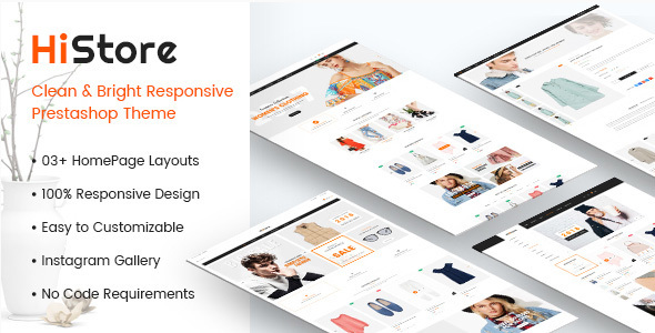 Image of HiStore - Clean and Bright Responsive PrestaShop 1.7 Theme