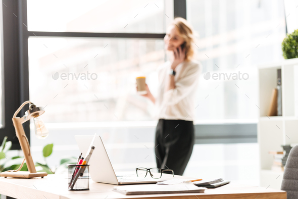 Business woman in office - Stock Photo - Images