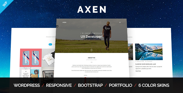 Image of Axen - Personal Portfolio WordPress Theme