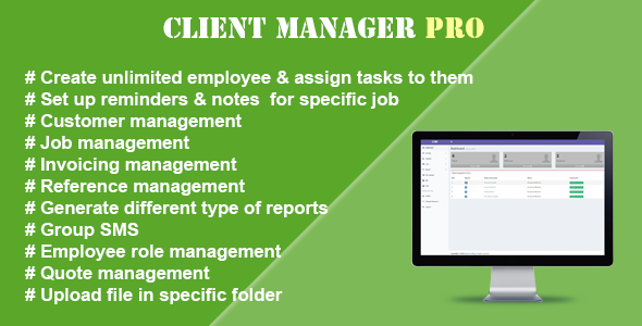 Client Manager Pro - CodeCanyon Item for Sale