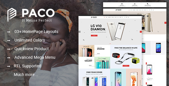 Paco - Responsive Multipurpose PrestaShop Theme - Shopping PrestaShop