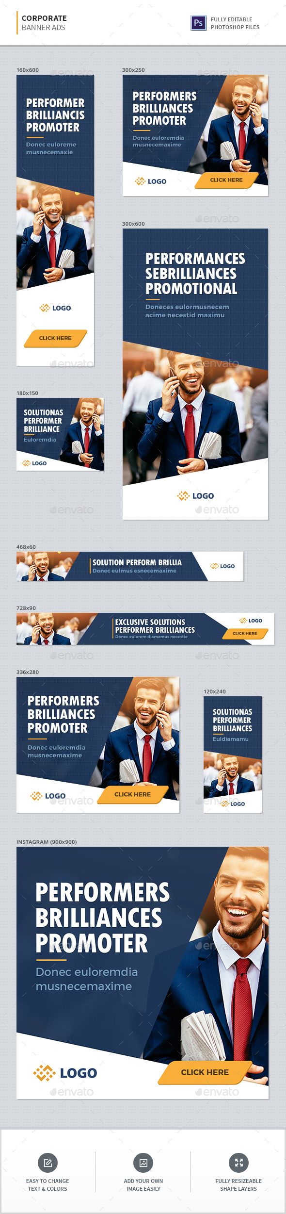 Corporate Banners - Banners & Ads Web Elements