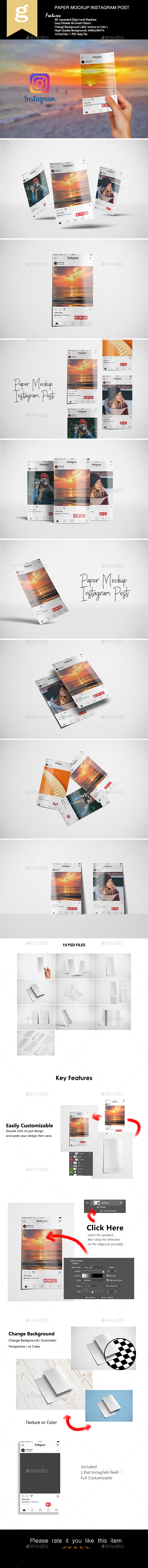 Paper Mockup for Instagram Post - Miscellaneous Print