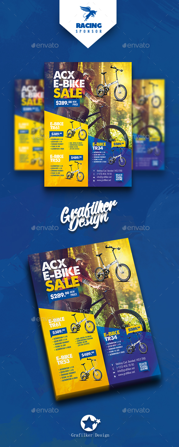 Bicycle Sales Flyer Templates - Corporate Flyers