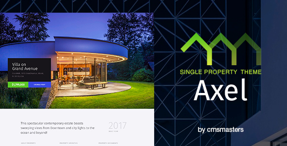 Axel - Single Property Real Estate Theme - Real Estate WordPress