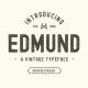 The Edmund - 6 Font Files
