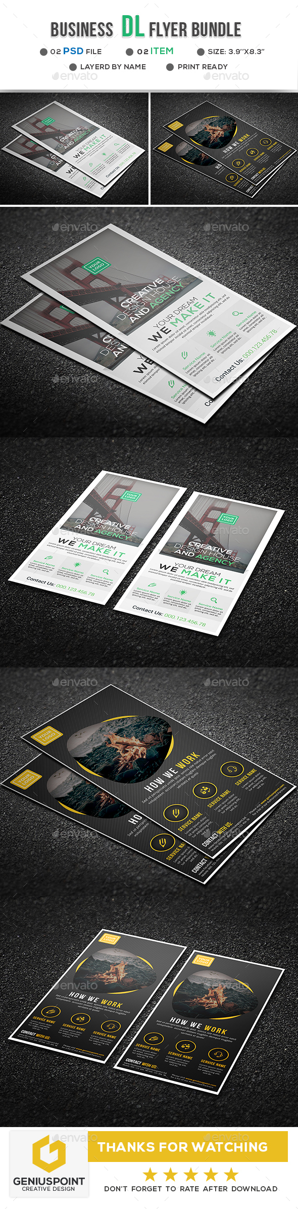 Business DL Flyer Bundle - Flyers Print Templates