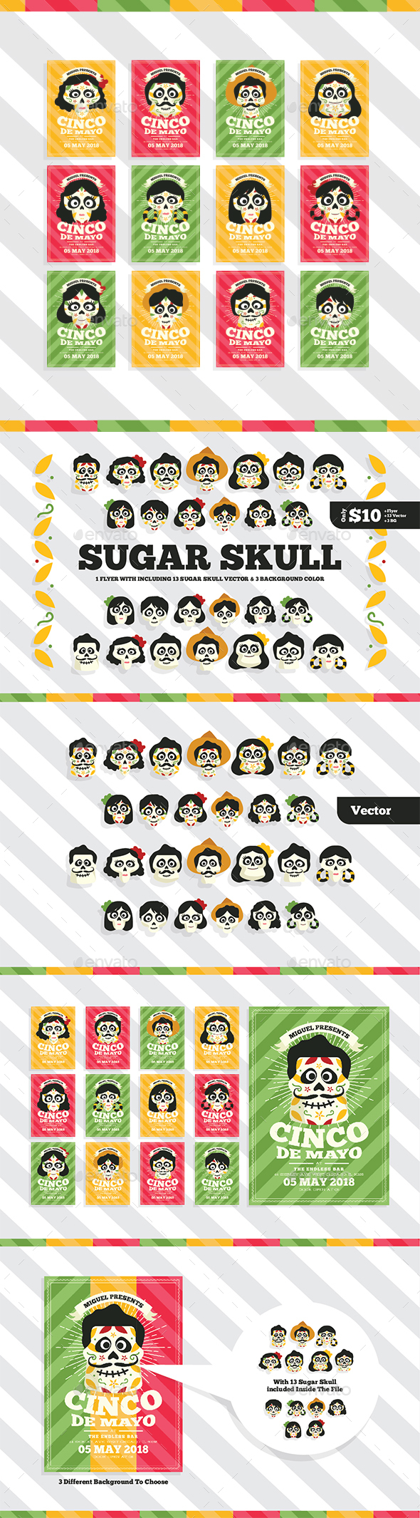 Sugar Skull Flyer - Events Flyers