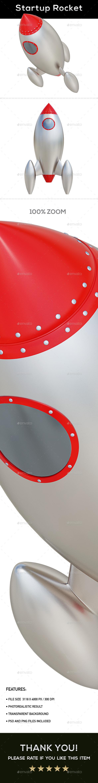 Startup Rocket Concept 3D Renders - Objects 3D Renders