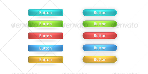 Shinny Buttons for web / PSD - Buttons Web Elements
