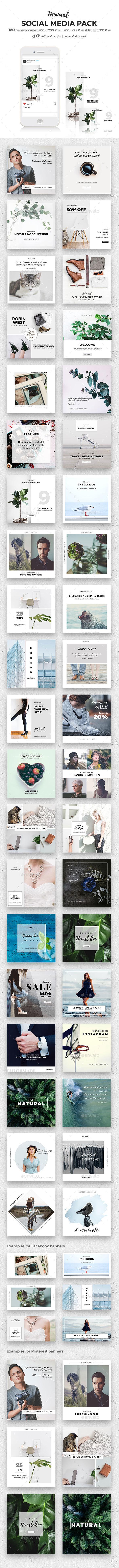 120 Social Media Banner - Social Media Web Elements