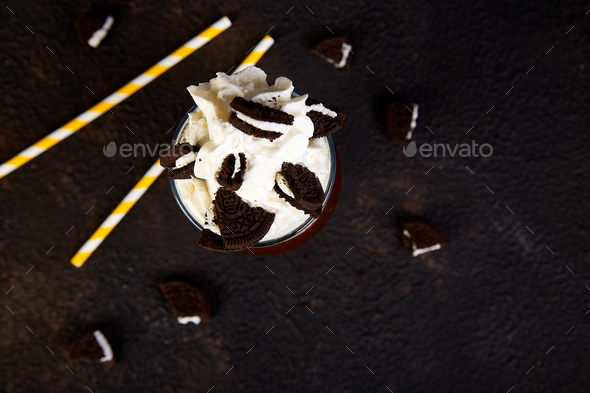 Extreme milkshake with chocolate - Stock Photo - Images