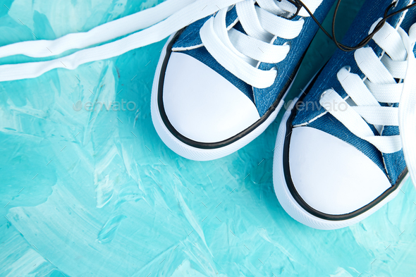 Female or male sneakers shoes - Stock Photo - Images