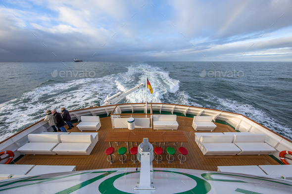 Backside stern Ferry - Stock Photo - Images