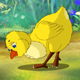 Yellow Chicken Walks and Pecks - VideoHive Item for Sale