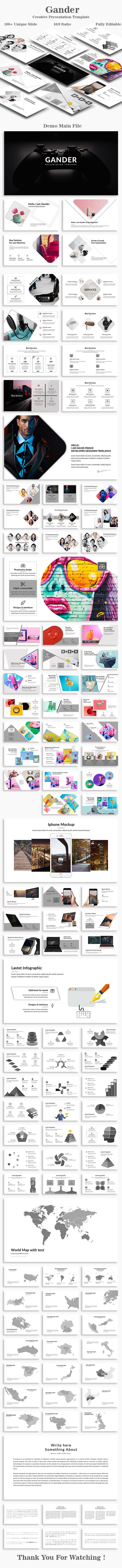 Gander Creative PowerPoint Template - Creative PowerPoint Templates