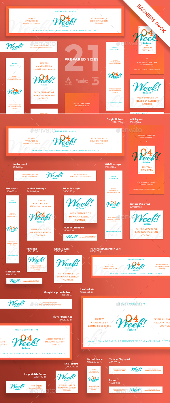 Fashion Week Banner Pack - Miscellaneous Social Media