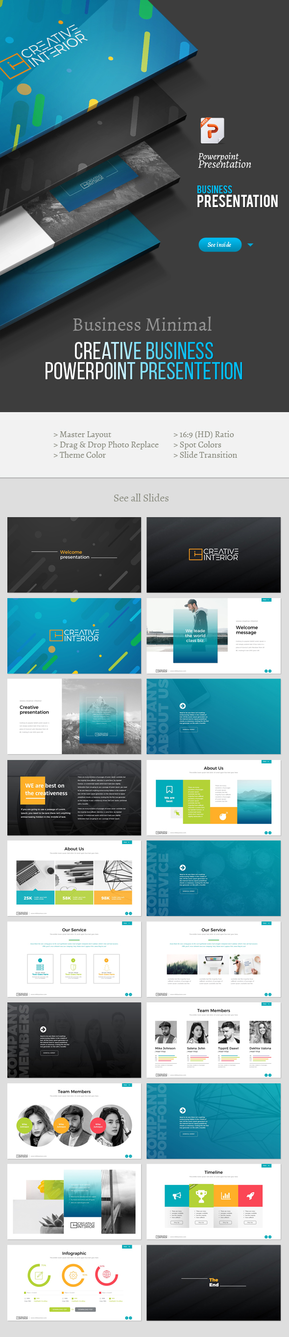 Creative Business Powerpoint Presentation - Creative PowerPoint Templates