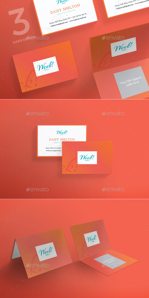 Fashion Week Business Card - Corporate Business Cards