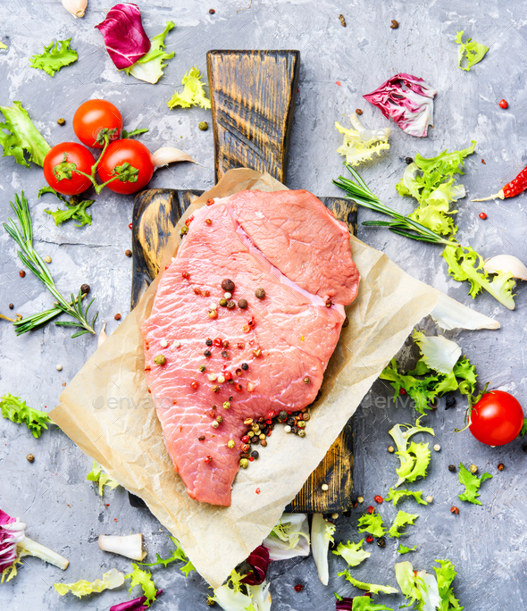Raw beef meat - Stock Photo - Images