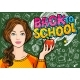 Young Woman Teacher in Front of a Blackboard - GraphicRiver Item for Sale