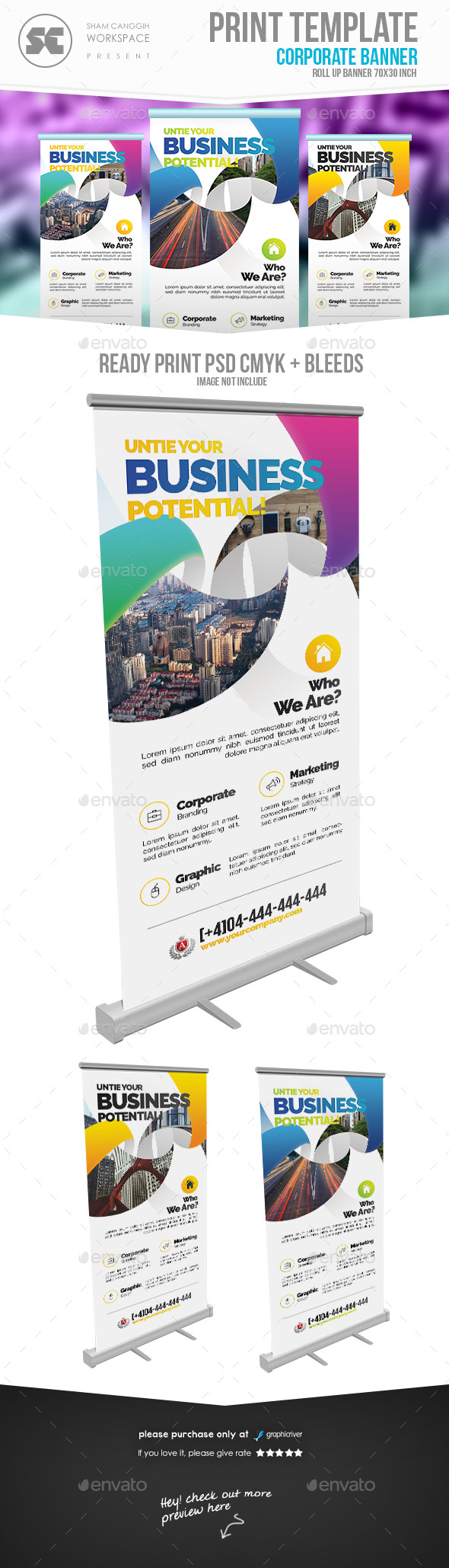 Business Roll Up Banner - Signage Print Templates