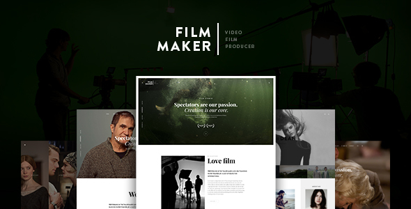 FilmMaker WordPress Theme: Film Studio - Movie Production - Video Blogger - Creative Agency - Creative WordPress
