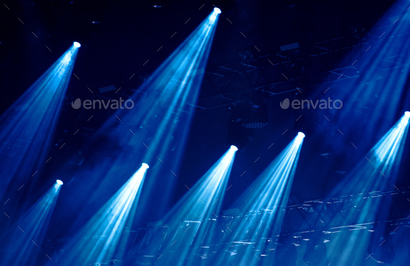 Stage lights at music festival - Stock Photo - Images