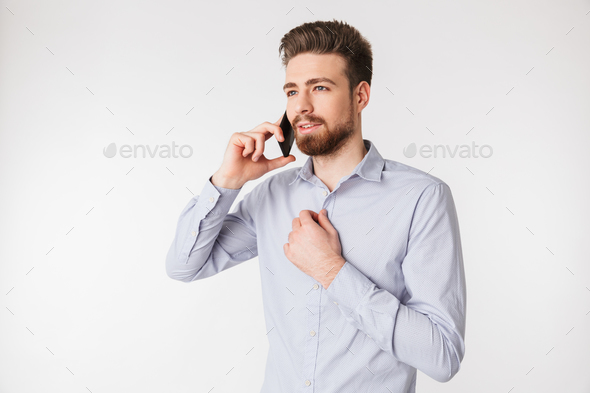 Portrait of a charming young man - Stock Photo - Images