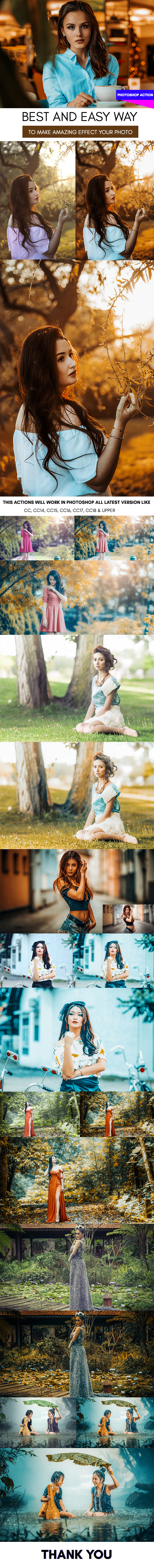 Cinema Color :: Photoshop Action - Photo Effects Actions
