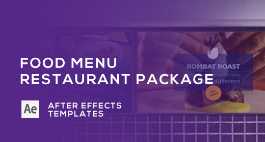 Food Menu - Restaurant Package - After Effects