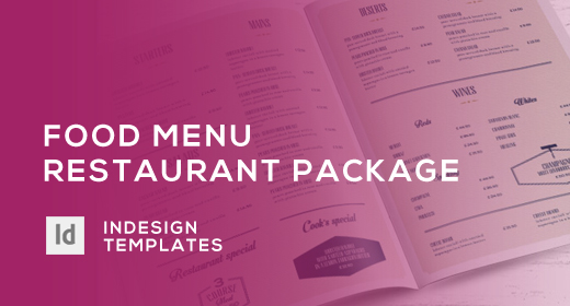 Food Menu - Restaurant Package - InDesign