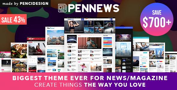 PenNews - Multi-Concept News/Magazine AMP WordPress Theme