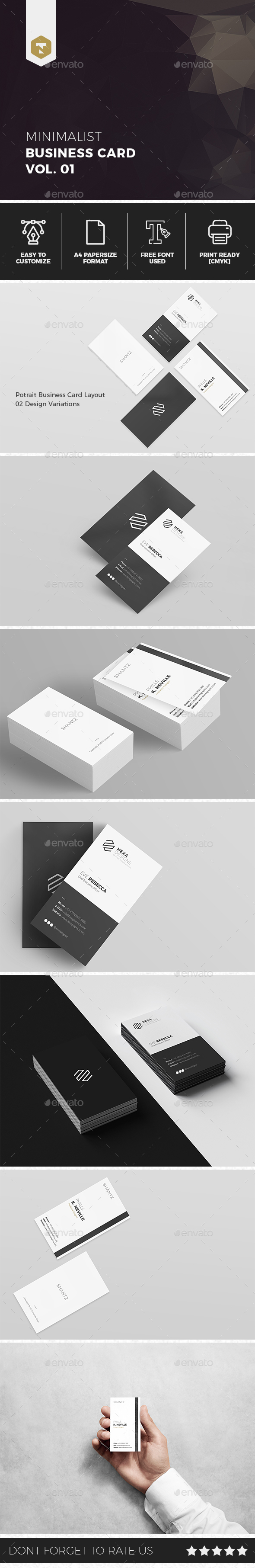 Minimalist Business Card Vol. 01 - Business Cards Print Templates