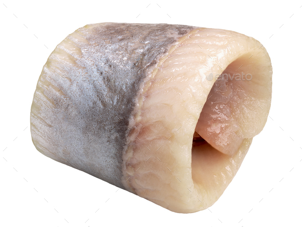Herring fillet rollmops, paths - Stock Photo - Images