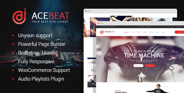 AceBeat - DJ Personal Page WordPress Theme - Music and Bands Entertainment