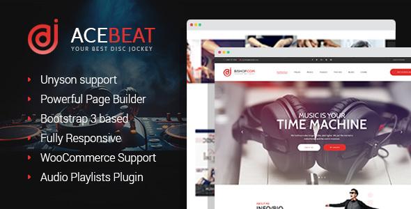 Image of AceBeat - DJ Personal Page WordPress Theme