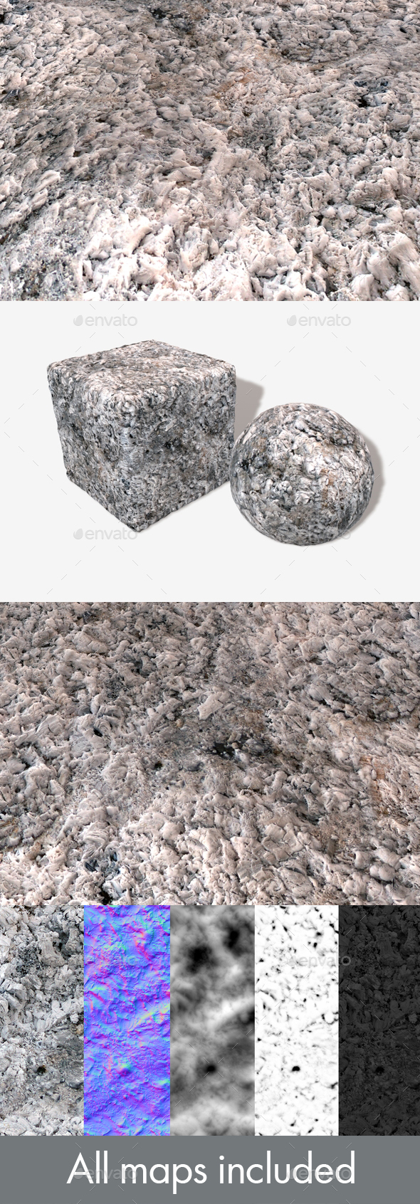 Campfire Ash Seamless Texture - 3DOcean Item for Sale