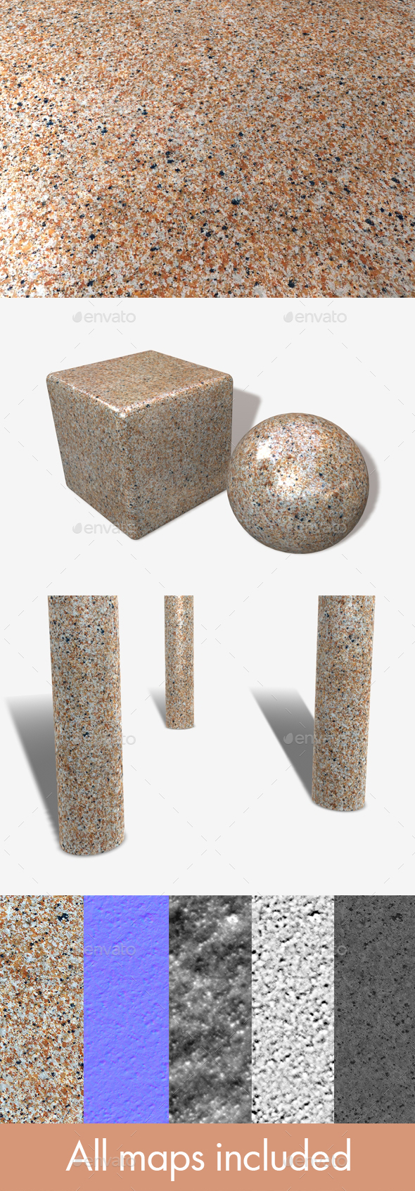 Speckled Marble Seamless Texture - 3DOcean Item for Sale