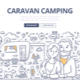 Caravan Camping Doodle Concept - GraphicRiver Item for Sale