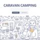Caravan Camping Doodle Concept