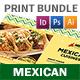 Mexican Restaurant Menu Print Bundle 2