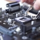 Engineer Sets the CPU Into the Motherboard - VideoHive Item for Sale